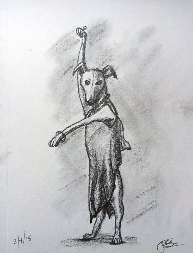 D = Dancing Dog in a Dress