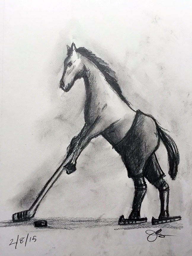 H = Horse Playing Hockey