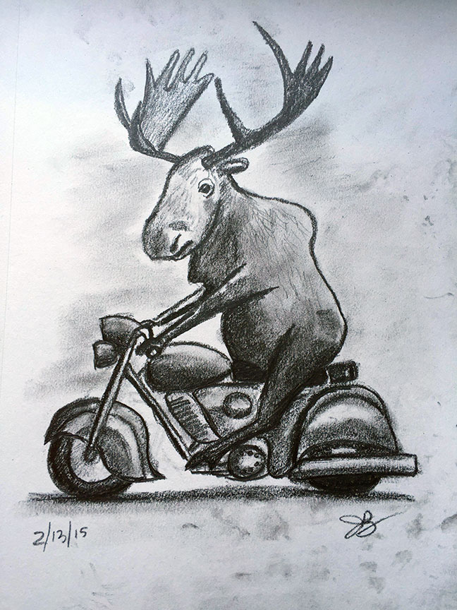 M = Moose On A Motorcycle