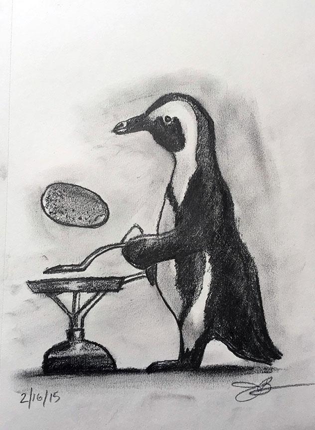 P = Penguin Flipping Pancakes