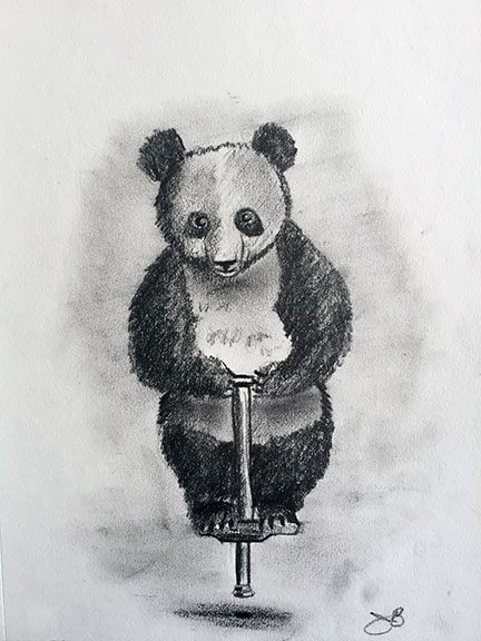 Panda on a Pogo Stick