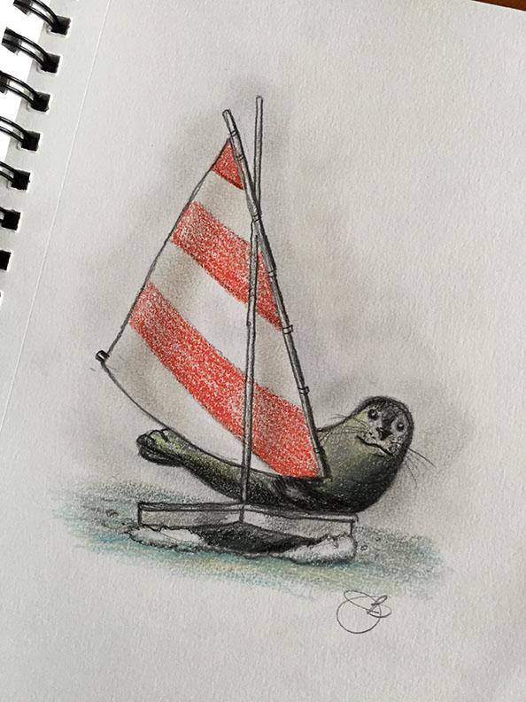 Sailing Seal