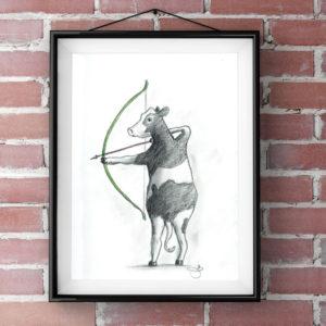 Archery cow